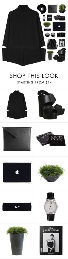 """NINA / 20.43"" by shaniaayr ❤ liked on Polyvore featuring STELLA McCARTNEY, Office, Mark/Giusti, NARS Cosmetics, Ethan Allen, NIKE, American Apparel, CHESTERFIELD and Hermès"