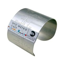 NYC Metro Cuff Embossed, now featured on Fab.