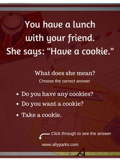 English Expressions and Phrases in Real Life Situations - Have a cookie. English Language Learning, Language Lessons, Foreign Language, English Lessons, Learn English, English English, English Vocabulary, English Grammar, English For Beginners