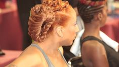 In light of the research that shows expensive and time consuming hair care may stop many African-American women from exercising, some experts hope that fitness-friendly hairstyles, like the one displayed, may be able to help.