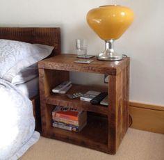 Solid Wood Qube Double Bedside Cabinet #eatsleeplive #reclaimedwood #bedroom