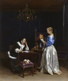 The Letter   The Royal Collection     Gerard ter Borch (Zwolle 1617-Deventer 1681) (artist)  Creation Date:   c.1660-65  Materials:   Oil on canvas  Dimensions:   81.9 x 68.2 x 12.0 cm