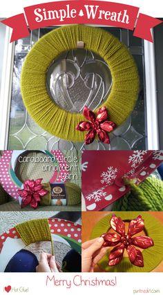Simple Yarn Christmas Wreath