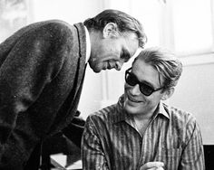 """Richard Burton and Peter O'Toole by Bob Willoughby on the set of """"Becket"""" 1964"""