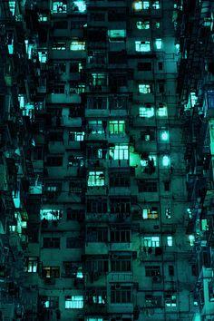 c2e1ca519de53a Paysage Urbain, Nuit, Couleur, Photographie, Ville Cyberpunk, Feux Verts,  Lunette