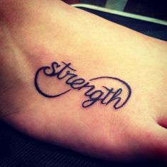strength tatt for those who have been through hell