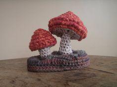 crocheted mushroom