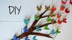 Butterfly and tree branch 3D art