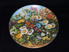 """1989 Furstenberg Wild Beauties """"Beside the Wall"""" Collector Plate by Hans Grab by ThePlateHutchII on Etsy"""