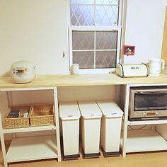 無印良品とレンジ台についてのインテリア・部屋実例