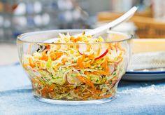Italialainen coleslaw   Kasvis, Arjen nopeat, Salaatit, Lisukkeet   Kodin Kuvalehti Coleslaw, Salsa, Cabbage, Mexican, Yummy Food, Vegetables, Eat, Ethnic Recipes, Dips