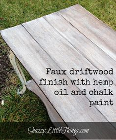 How To Create a Driftwood Finish:  at SnazzyLittleThings.com