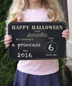 Look at this 'Happy Halloween' Personalized Chalkboard Sign on #zulily today!