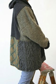 upcycle patchwork old sweaters