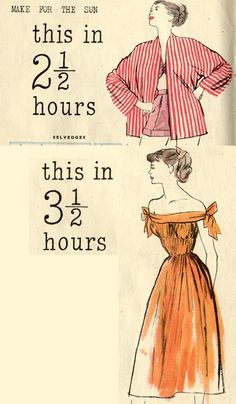 4 Free 1948 Vintage Summer Patterns With Tutorials To Fit To Your Size - Very Clear Magazine Page Scans