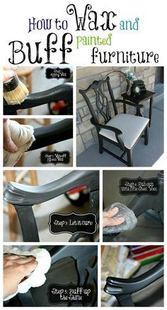 How to make painted furniture shine. WhiteCottageBoutique.com