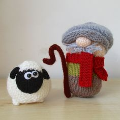 Ravelry: Farmer Drabble and Sheep pattern by Amanda Berry