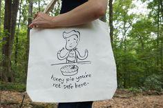 Honey Pie Morrissey Tote Bag by sugarcookie on Etsy