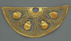 Nose Ornament with Spiders Date: 1st century BCE – 2nd century CE Salinar (?) Peru The Metropolitan Museum of Art