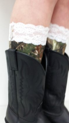 Hey, I found this really awesome Etsy listing at https://www.etsy.com/listing/178810237/realtree-bootcuff-with-lace-trim-and