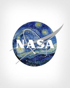 NASA's logo reimagined with Vincent Van Gogh's Starry Night, by Eisen Bernardo