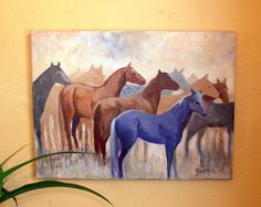 The Herd by Sally Bartos, New Mexico artist. Her work is available from bartos on Etsy.