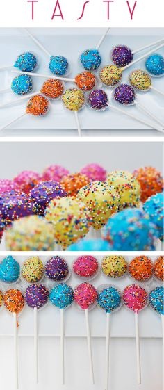 In love with the convenience and ease of cake pops! Simple but brilliant!