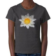 Beautiful flower white water lily tees