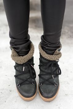 Isabel Marant Booties | thevillagevogue.com                                                                                                                                                                                 More