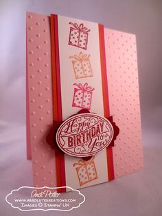 Stampin' Up Best of Birthday Presents Posted on February 8, 2013