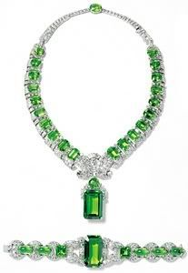 Cartier Emerald and Diamond Demi-Parure