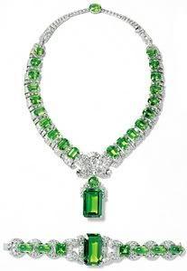 Cartier Emerald and Diamond Demi-Parure