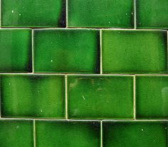 green tiles by Homemade, via Flickr