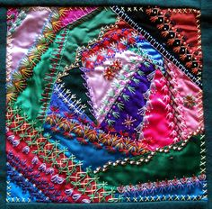 Lattice Work When I first started this quilt I didn't have any idea how to make a crazy quilt. I had a lot of leftover fabrics from pre...