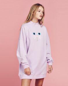 Lazy Oaf Purple Kitty Sweatshirt