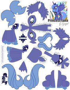 Princess Luna Printout by ~FyreWytch on deviantART
