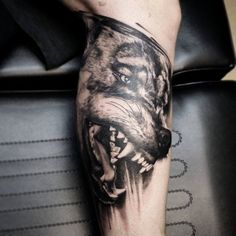 Tattoo-Foto: Wolf, in Arbeit