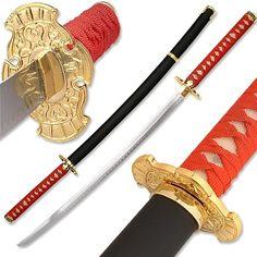 Ryu Dragon Ninja Katana Sword w/ Back Strap