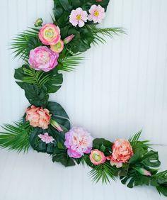 Artificial & Dried Flowers 2019 Fashion Hawaiian Luau Party Tropical Summer Decoration Diy Retro Rattan Wreath Flamingo Beach Wedding Party Hanging Flower Wreaths Decor Festive & Party Supplies