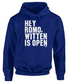 Hey Romo! Witten Is Open