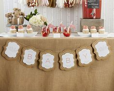 Baby Shower Banner – Mix and Bash
