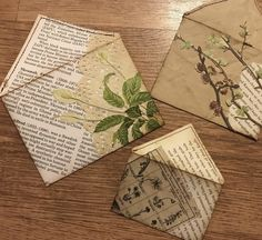 Pretty envelopes made from magazine pages. Altered Books, Altered Art, Book Crafts, Paper Crafts, Tarjetas Diy, Envelope Art, Book Journal, Art Journals, Vintage Crafts