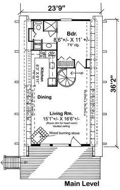 A-Frame Contemporary Retro House Plan 24308 Level One