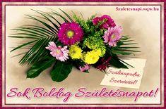Képeslap születésnapra nőknek, túlnyomórészt gerberából összeállított virágcsokorral. Gerbera, Tableware, Birthday, Google, Image Search, Dinnerware, Birthdays, Tablewares, Dishes