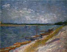 Moored Boats - Vincent van Gogh