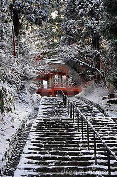 Gateway to paradise one of the numerous gates of the Enryaku-ji temple of the Hiei mountain, Kyoto, Japan © Paskee