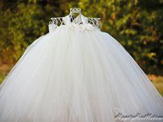 Pixie tutu dress -Ivory Cream - Flower girl dress -Party Dress. $45.00, via Etsy.
