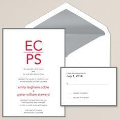 Sincerely Yours Wedding Invitation | #exclusivelyweddings | #redwedding
