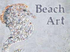 shell beach art - fun thing to do at the beach.