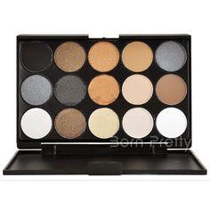 $ 9.56 15 colores mate de la sombra de ojos Corrector de cejas en polvo de colores del maquillaje - BornPrettyStore.com